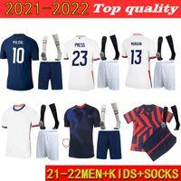 2021-2022 Hombres + Kits Kit Socks Soccer Christian Jersey Alex Morgan Julie Ertz Megan Rapinoe Press Lloyd Heath Yedlin Dempsey Krieger Football Jersey
