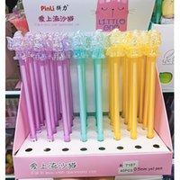 Penna coreana carino gatto artiglio cristallo colorato neutro 3d cartoon elefante unicorno cavallo cigno sirena acqua