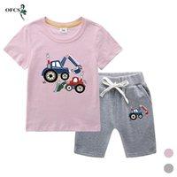 Abbigliamento set per bambini a maniche corte T-shirt vestito estate cotone boys ragazzi modello cartoon pattern home vestiti moda top + pantaloncini sportivi 2 pz