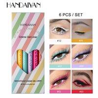 Handaiyan 6 farben lang anhaltender Eyeliner Bleistift wasserdicht Nicht-Smudge-Mode ultra-feine Eyeliner Gel Makeup Kosmetik Augen natürlich