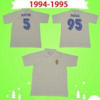 Real Zaragoza Soccer Jersey Retro 1994 1995 Brehme de jogo Raríssima Camiseta de Futbol 94 95 Camisa de Futebol Clássico Espanha Padua Nayim