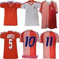 1986 1998 Dinamarca Retro Jerseys de fútbol 1992 M. Laudrup Helveg Jørgensen Home Shirts Red Football Uniformes