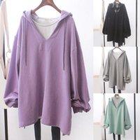 Women's Hoodies & Sweatshirts Harajuku Women Hip Puff Sleeve Loose Pullovers Winter Autumn Hooded Hoodie Tracksuits