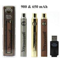 Латунные костяшки батареи 900mAh 650mah Vape Pen Prehate VV вариабельные аккумуляторы напряжения для 510 резьбовые толщинные нефтяные картридж