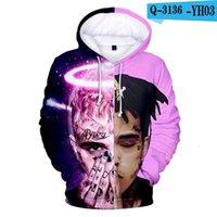 Mens Designer t shirts Xxx Tentacion 3d Casual Singer Print Unisex Hoodies Sweatshirt Men women Personality Hooded Boys Size Xxs-4xl Clothes VNVM