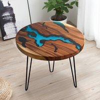 Элегантные законодательные столовые ножки ножки в северном стиле река база для гостиной кофейной столовой древесина смола эпоксидная смола