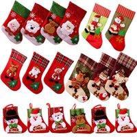 EE.UU. stock medias de la Navidad Santa Muñeco de nieve Titulares de regalos Bolsa de almacenamiento Colgante Decoración para el hogar Año Nuevo Calcetines Adorno Árbol de Navidad Decoración
