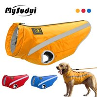 Mysudui Medium Big Dog Ropa de invierno para S Pets Ropa Reflective Chaquetas Abrigo al aire libre Cálido Bulldog Francés 210804