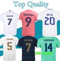 S-2XL 2021 레알 마드리드 축구 유니폼 21 2022 Zidane 벤즈마 Sergio Ramos Kroos 위험 19 20 Football Jerseys Maillot