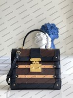 M45908 Designer Top End Trianon PM Женская сумка Crossbody S-Lock Twean Twean Trackbage Кошелек Деревянная Натуральная Натуральная Кожа Кожа Вечерняя Сцепление Съемная Ручка