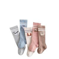 Kids Socks Newborn Girls Boys Knee High Sock Cotton Infant Accessories Autumn Winter Stockings Baby Clothes Wear Cartoon 0-5Y B8848