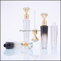 Packing Office School Business & Industriall Tubes Clear Empty Tube Container With Wands Fashion Diamond Refillable Lip Gloss Bottles Drop D