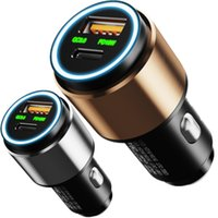 36W Quick Charging Alloy Type c PD QC3.0 Dual Usb Ports Car Charger For Iphone 7 8 11 12 Samsung htc gps pc