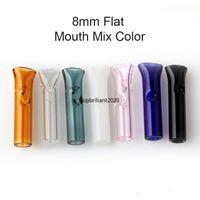 8mm / 12mm dicas de filtro de vidro com boca plana redonda para papéis de rolamento crus titular de cigarro de tabaco fumar pontas fy2258