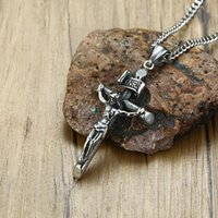Pendant Necklaces Modyle 2021 Vintage Men Crucifix Necklace Ancient Stainless Steel Italian Chain Male Charm Cross Jewelry