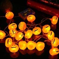Dizeleri Açık Cadılar Bayramı Süslemeleri Işıkları 10/20 LED Kabak Örümcek Yarasa Kafatası Dize Işık Pil Kapalı Parti için Kumandalı