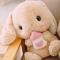 Милый фаршированный кролик плюшевые мягкие игрушки кролика детская подушка кукла творческие подарки для детей младенца сопровождают игрушку спать 22/22/43cm y0726