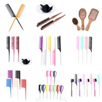 Hair Brushes 1 2 3pcs Professional Pin Tail Comb Edge Trimmer Beauty Tool Styling Plastic Stainless Steel Spiked Salon Cut Combs