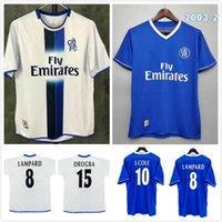 # 8 Lampard 2003 2005 Rétro Soccer Jerseys Classic 03 05 Drogba Terrys Terry Veron Cole Chemise de football Vintage Vintage