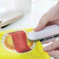 Mini Máquina de sellador de alimentos portátil Handheld Bocadillos de alimentación Embalaje Vacuum Bolsa de plástico Máquina de sellado de calor Caper de cierre HWF6156