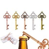 Vintage Metal Skeleton Beer Bottle Opener Key Bottle Opener with Tag Card Wedding Party Favor for Guest Wedding Decor Creative GWD10660