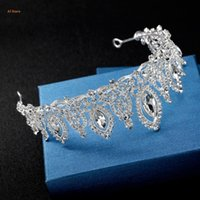 Bride Crown Wedding Tiara Bridal Jewelry Women Headdress Headband Luxury Vintage J78F Hair Clips & Barrettes