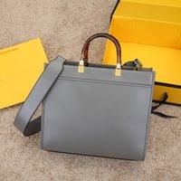 Lüks Tasarımcılar Çanta Omuz Çantaları Yüksek Kaliteli Alışveriş Çantası Deri Malzeme Amber Çift Saplı Büyük Kapasiteli Mektup