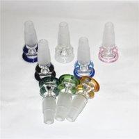Hookah 14mm 18mm Limpar Tigela Peça Bongs Grosso Pyrex Aughty Water Tubulações De Vidro Tigelas Com Handle Braço Para Fumar