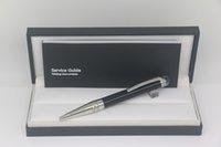Bolígrafo de alta calidad Classi con cubierta de cabeza de cristal azul enrejado de acero inoxidable de acero inoxidable / ajuste gris