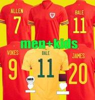2021 2022 ويلز بيل كرة القدم الفانيلة المنتخب الوطني 21 22 جيمس رامزي ألين ويلسون الفوارج الرجال الاطفال كيت مايوت دي لكرة القدم قمصان موحدة