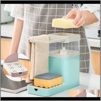 Hooks Rails Housekeeping Organization & Gardenktichen Sink Shelf Soap Pump Dispenser With Sponge Holder Drain Storage Rack Dishwashing Liqui