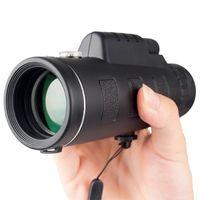 Mini HD 40x60 Monocular Dia e Noite Visão Telescópio Portátil Ao Ar Livre Camping Pássaro Assistindo Telescópio 930 Z2