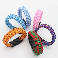 Free DHL 100PCS Mix Colors Cool!Multi Function Outdoor ,Men's Umbrella Bracelet Beaded, Strands