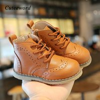 Boots Kids Leather Boys Shoes Baby Girls 2021 Spring And Autumn Side Zipper Children Casual Soft Sole
