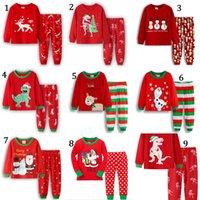 Ins Baby Kleidung Set Jungen Mädchen Weihnachten Weihnachtsmann Claus Anzug Pyjamas Kinder Herbst Langarm Tops Gedruckt Hosen 2 Stück Weihnachten