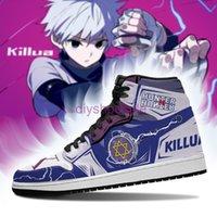 Fan DIY Anime Sneakers yoyo killua Shoes Boots Mens Womens Basketball Shoes Jumpman 1 Model Custom Trainers Casual shoe