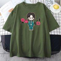 Squid Game Cosplay Costume Short Sleeve Li Zhengjae Same Print T-shirt 456 218 Tops Men Women Summer Fashion Casual Cool T Shirt