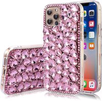 Luxury Diamond Glitter Bling Crystal TPU Anti-Drop Cell Phone Cases For iphone 6 7 8plus Xr Xs 11 12 Pro Max Back Cover