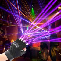 댄스 공연, DJ 클럽, 파티, 바 스테이지를위한 빨강, 녹색 및 보라색 레이저 장갑
