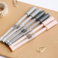 Gelstifte Mohamm 0,35mm Transparente schwarze Tintenstift Büroschule schreiben Student Supplies Schreibwaren Zufällige Farbe (1 stücke)