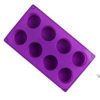 Кубок формы торта выпечки плесень руки мыльные силиконовые формы восемь кругов льда кубик DIY инструмент не токсичный высокотемпературный сопротивление DWF6966