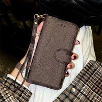 Lederen Merk Designer Case Telefoon Gevallen voor iPhone 11 Pro Max 12 Mini X XR XS 7 8 Plus iPhone12 Cover Shell met kaart Portemonnee