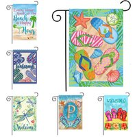 Spring and Summer Garden Flag welcome flag slippers and dragonfly printed decorative flags 30 * 45cm T500699