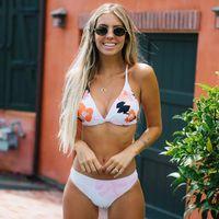 Split Printed Swimsuit Ladies Bikini Suit 2021 Women's Swimwear Brazilian Swim Trunks Beach Swimming
