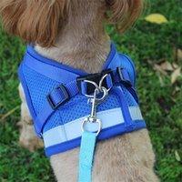 Yelek Modeli Köpek Koşum Tasma Seti Nefes Örgü Kayışı Yelek Yaka Halat Pet Köpek Malzemeleri Bırak Gemi 360011 1332 T2