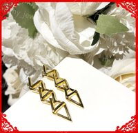 Women Curb Chain Earring Fashion Womens Jewelry 18K Gold Danglers Luxury Designers Letter V Entanglement Earrings Boucle D'oreille Orecchino