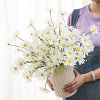 Decorative Flowers & Wreaths 1 Bunch Of Small Daisies Artificial Home Wedding Decorations Flower Arrangements Plant