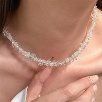 Earrings & Necklace Simple Creative Splicing Crystal Metal Chain Clavicle Girl Bracelet Gravel For Women Fashion Jewelry Accessories