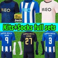 2021 2022 포트 O 축구 유니폼 Pepe Moussa Sérgio Oliveira Mehdi Luis Diaaz Matheus Evanilson Jersey Men + Kids Kit Socks 전체 세트 축구 셔츠 유니폼