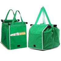 Storage Bags Eco Friendly Supermarket Shopping Bag Trolley Tote Thicken Cart Large Capacity Handbags Foldable Reusable